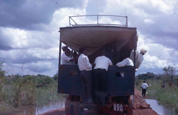 "School truck late sixties: ""Mr. Okwaput"", the driver"